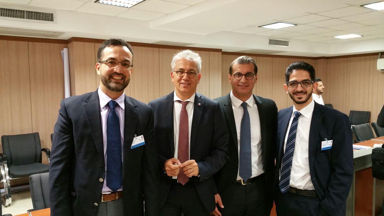 Tarek Al Wazir in Iran mit Delegation