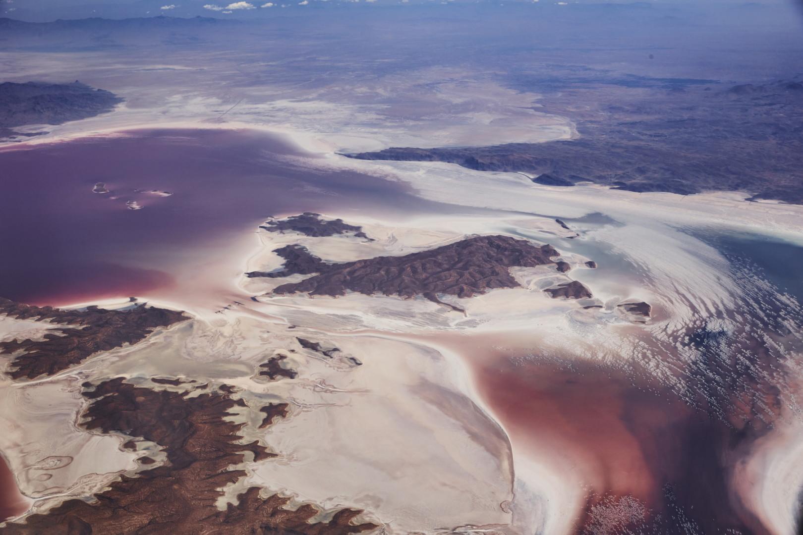 Wasserwirtschaft Iran: Luftaufnahme des Urmia Sees